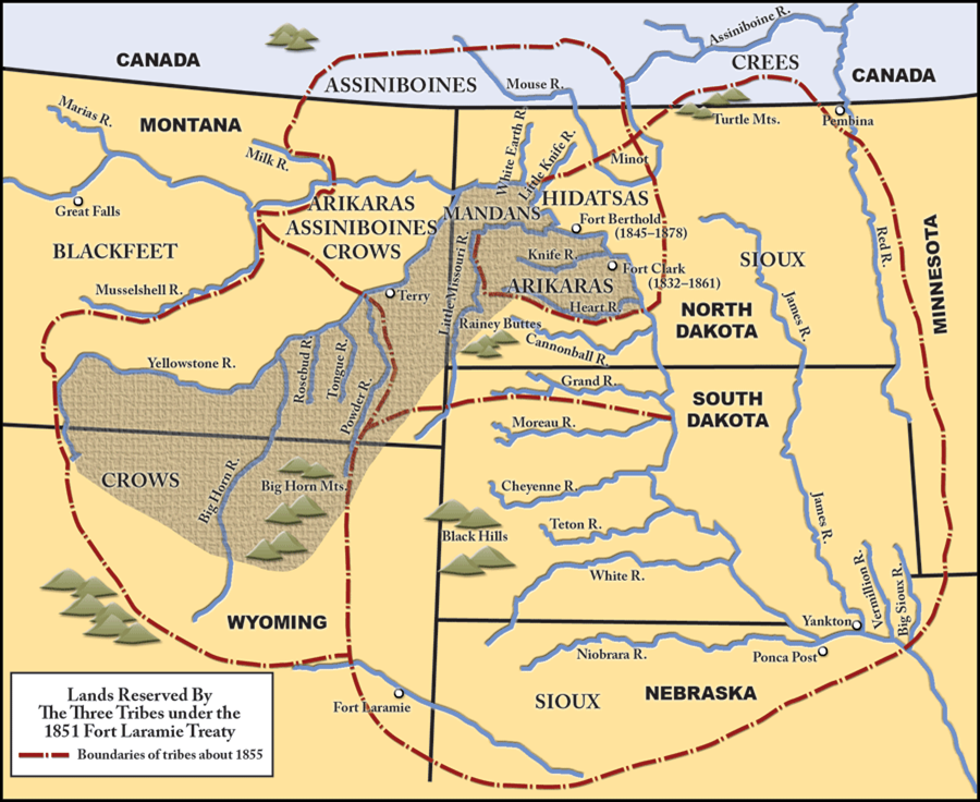 an analysis of events prior to the signing and the signing of the treaty of 1851 at fort laramie bet